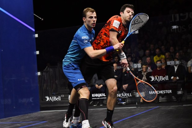 Up close: Nick Matthew and Daryl Selby