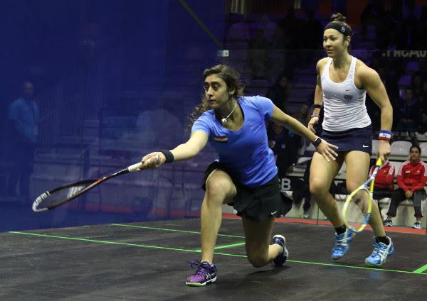 Nour El Sherbini and Amanda Sobhy