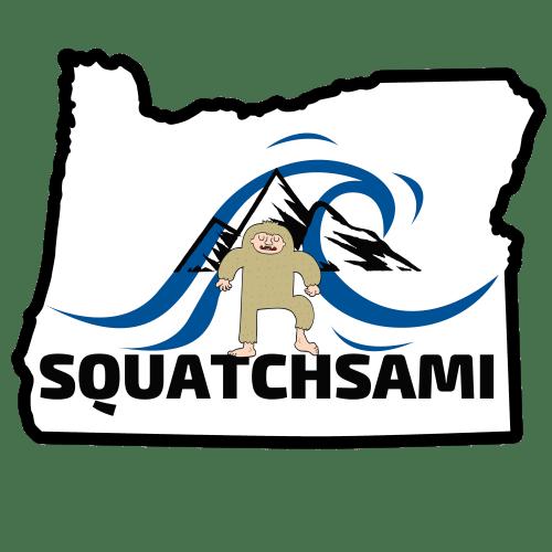 Oregon Squatchsami Logo, LC Farmer's Market, Summer 2019