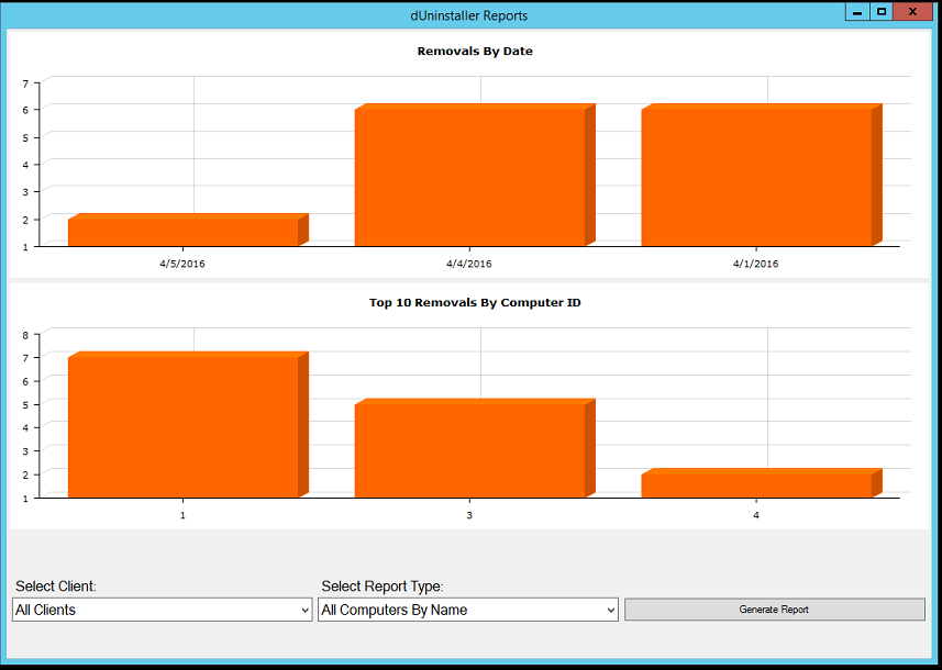 dUninstaller 2.5 Reports