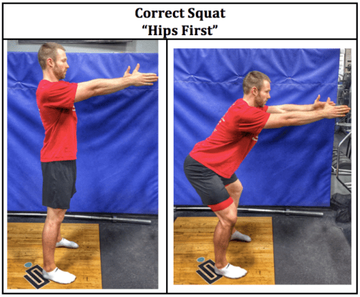 Correct Squat %22Hips First%22