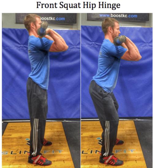 Front Squat Hip Hinge Full