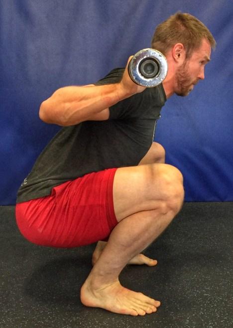 Barefoot squat