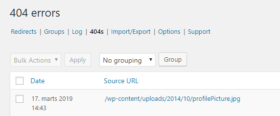 Redirects - 404s
