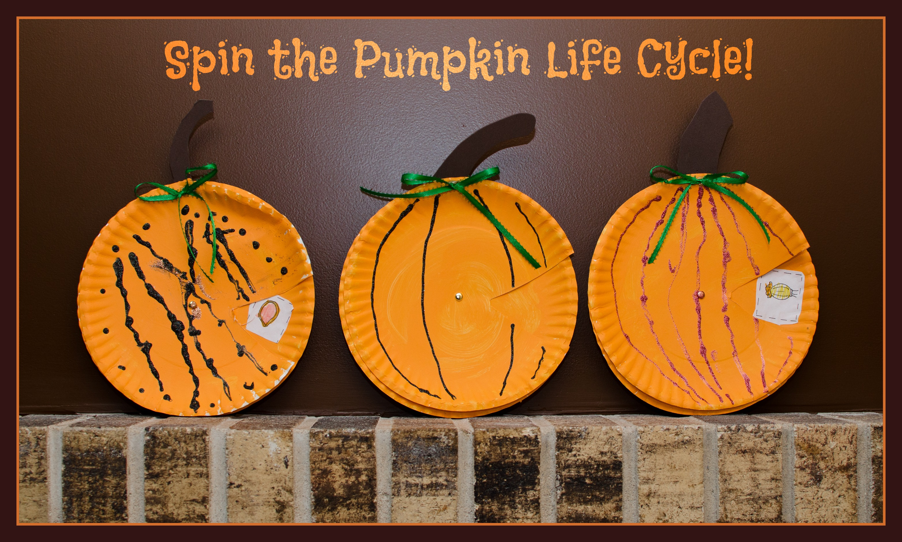 Pumpkin Cycle Spinner Plates