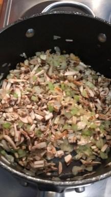 mushroom and garlic added
