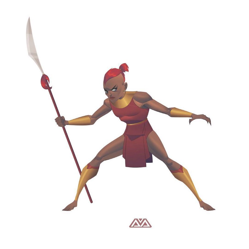 Black Panther Dora Milaje by Alfred Achiampong