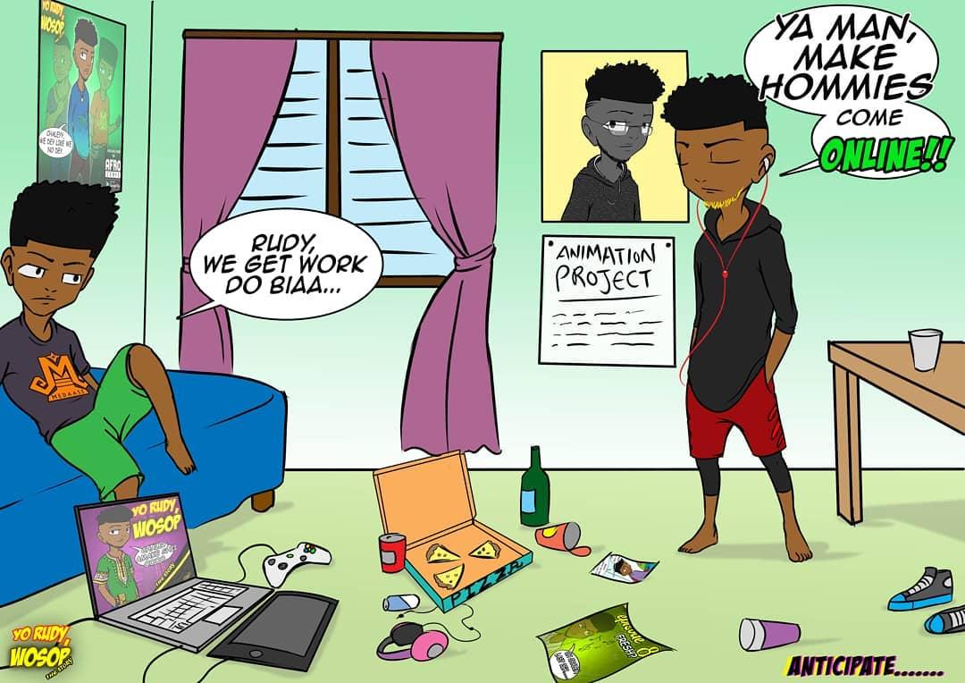 Yo Rudy Wosop comic series , one of the many comics in Ghana