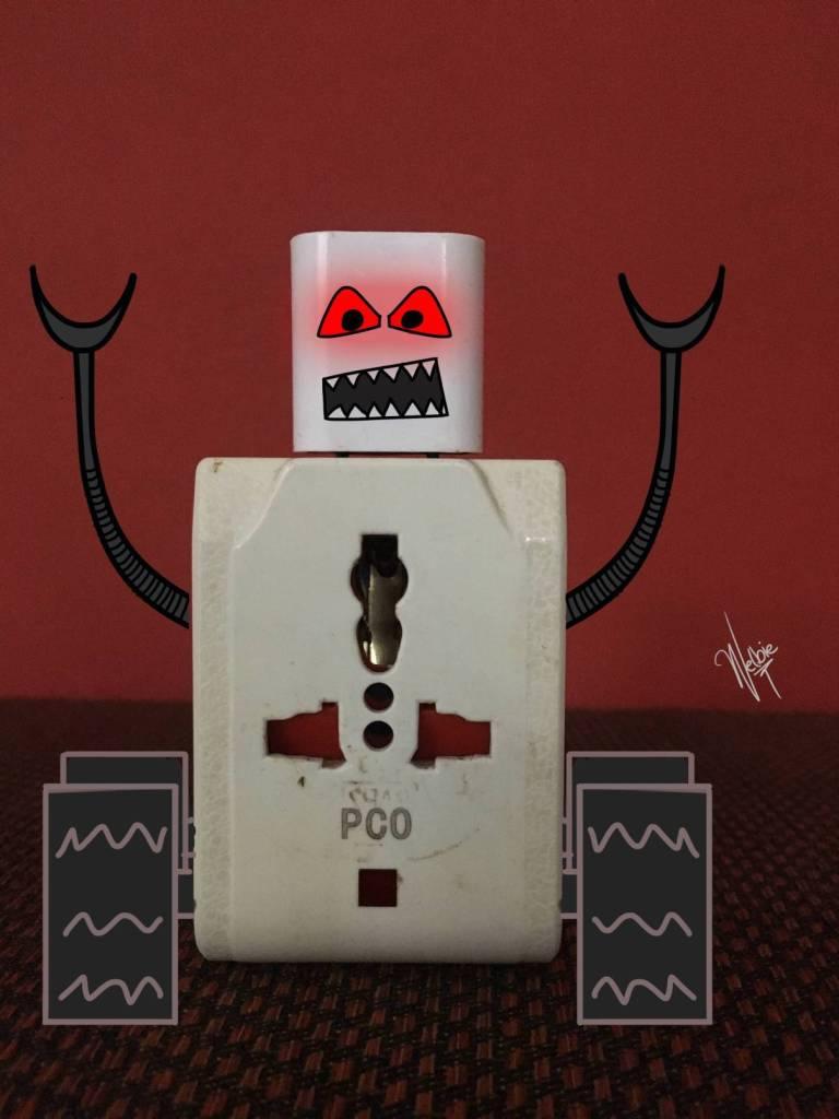 Robot Charge Wall E (lectronics) II by Welbie.jpg
