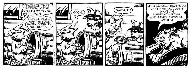 Twinkie Runs From Raccoon