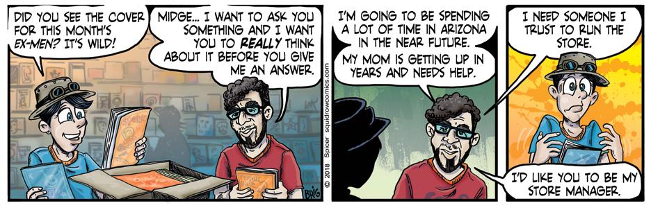 Comic Shop Keeper