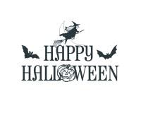 happy halloween word art
