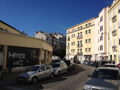 outside of the market in lisbon