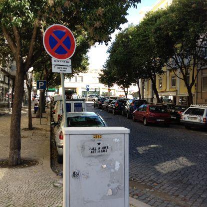 No parking sign in Lisbon