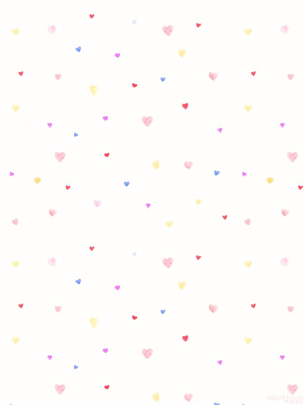 Watercolor Hearts Valentines Day Wallpaper Downloads