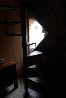 stairway to the upstairs bedroom