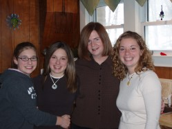Aunt, neices, family photo, sisters, Thanksgiving