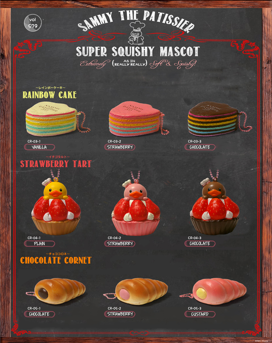 Sammy Rainbow Cake, Strawberry Tart And Chocolate Cornet
