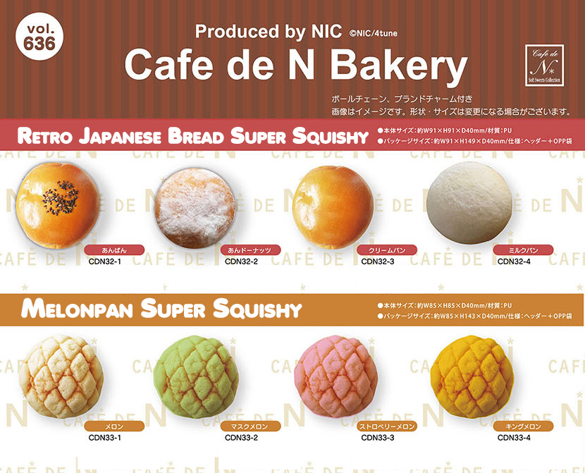 Cafe De N – Bakery Retro Japanese Bread Super Squishy And Melonpan Super Squishy