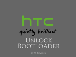 unlock bootloader on HTC