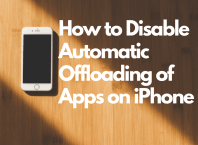 disable offload unused apps on iPhone
