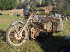 Claude's well-travelled Matchless, Bethanga 2010