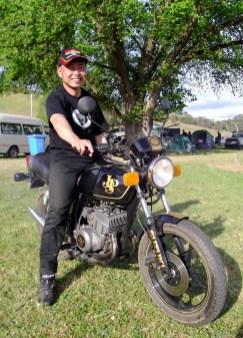Konomu-san and his Suzuki X7 Special, Bethanga 2012