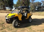 David Elder's nice new toy, Can-Am Commander 800, Bethanga 2015