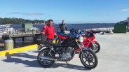 Nice day for an afternoon ride to Strahan for Jeff, Craig, and Brendan.