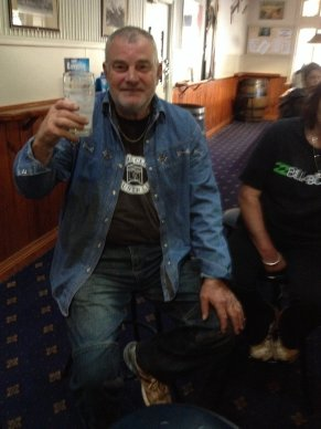 Colin in double-denim at the Empire Hotel, Queenstown.