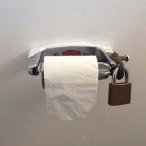 They take toilet paper security seriously at the Shell servo in Scottsdale!