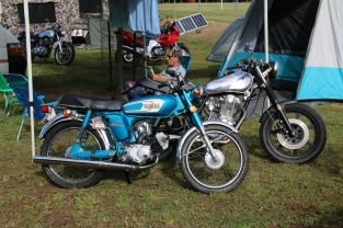 Paul's YB100 & SR500, Bethanga 2016.