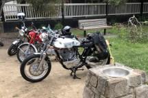 Steve's SR500 at Flinders, 2020