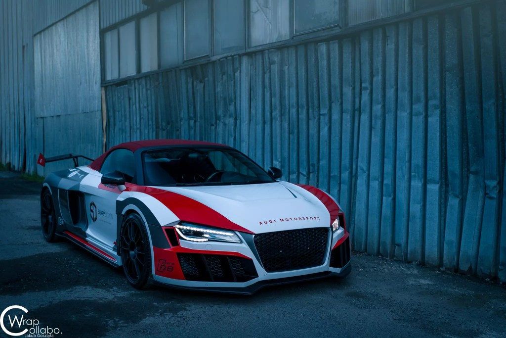 Audi R8 Spyder SR66 wide body kit