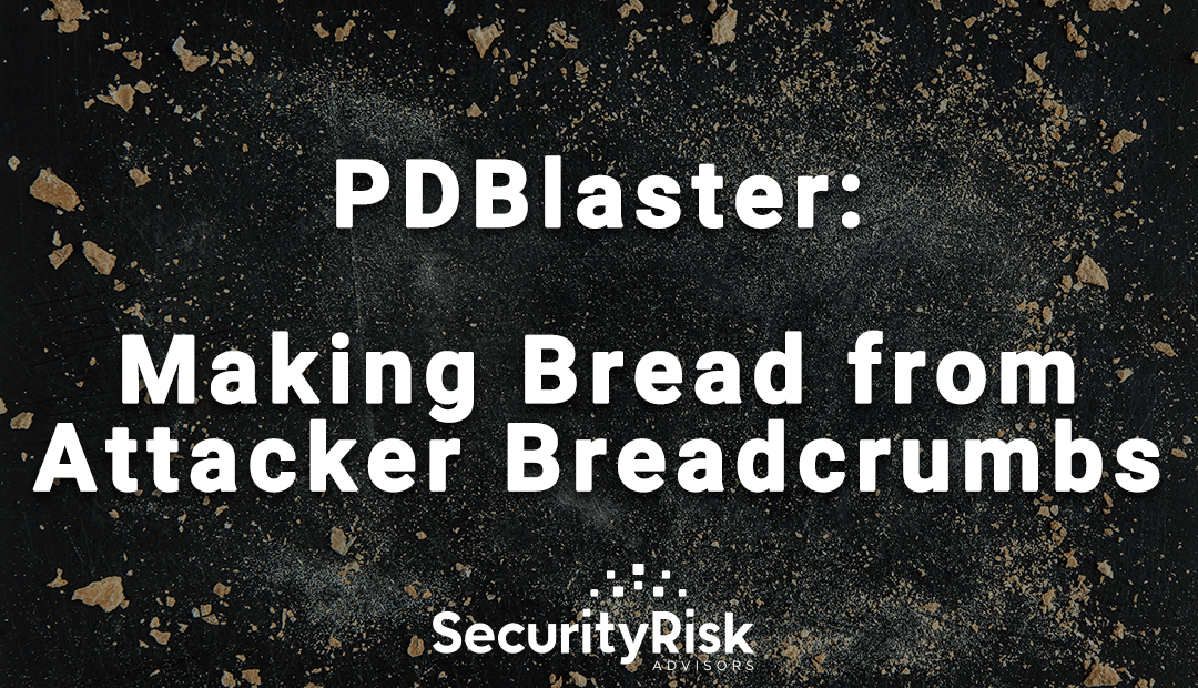 PDBlaster: Making Bread from Attacker Breadcrumbs