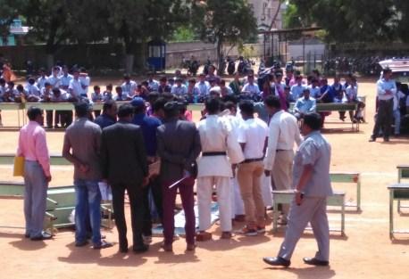 Karate Colleagues Praying