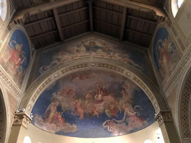 La chiesa di San Biagioa Musso ha angelici affreschi di Luigi Tagliaferri