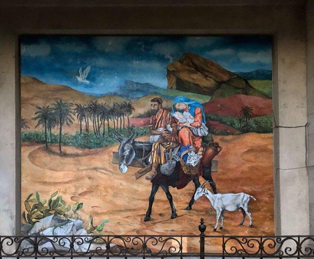 Nel Sacro Monte di Varese c'è un murales di Renato Guttuso raffigurante la Fuga in Egitto