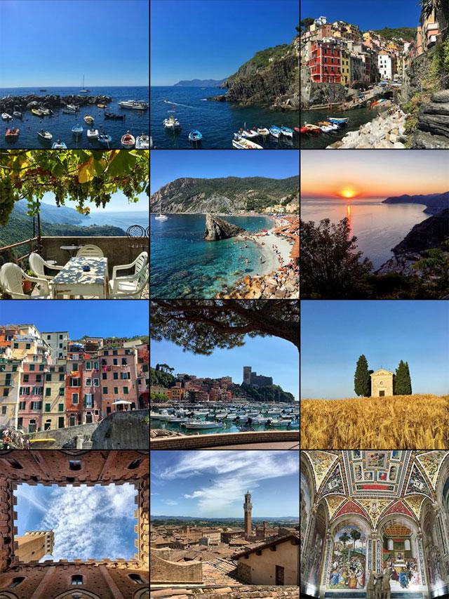 Come avere una bella galleria Instagram? Pubblica foto con diverse inquadrature e colori