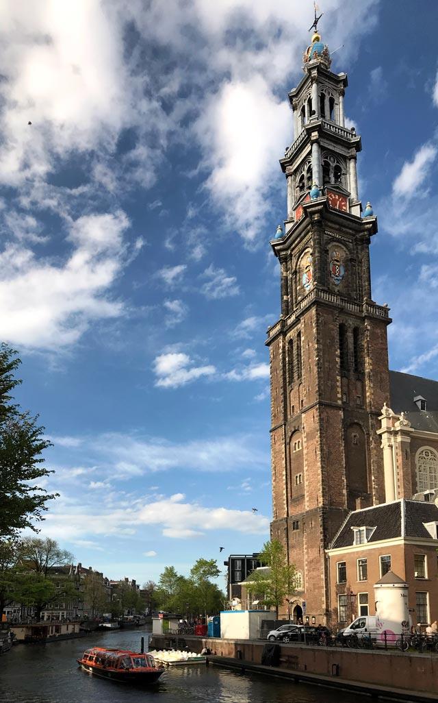 Il Jordaan è il quartiere più bohémien di Amsterdam e qui svetta la Westerkerk