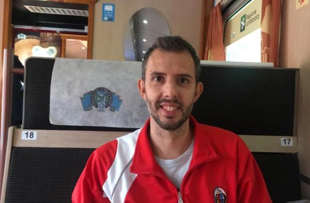 Simone Colombo srake sul Treno dei Sapori del Lago d'Iseo