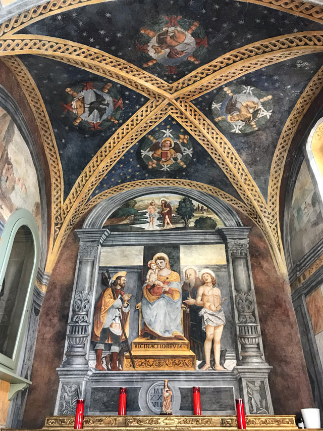 La piccola chiesa di San Rocco è da vedere a Limone sul Garda