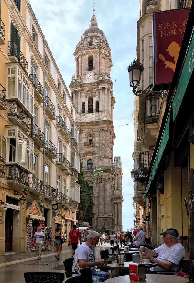 Malaga in Andalusia ha un centro storico che offre scorci fantastici