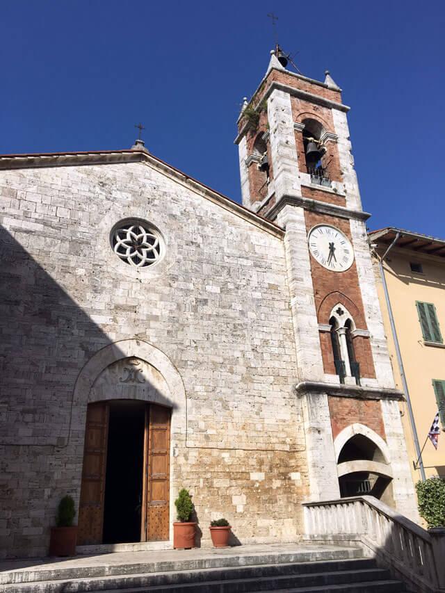 La chiesa di San Francesco è una delle bellezze di San Quirico d'Orcia