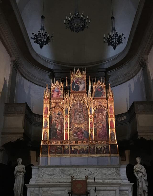 Il Duomo di Montepulciano conserva il trittico dell'Assunzione della Vergine di Taddeo di Bartolo