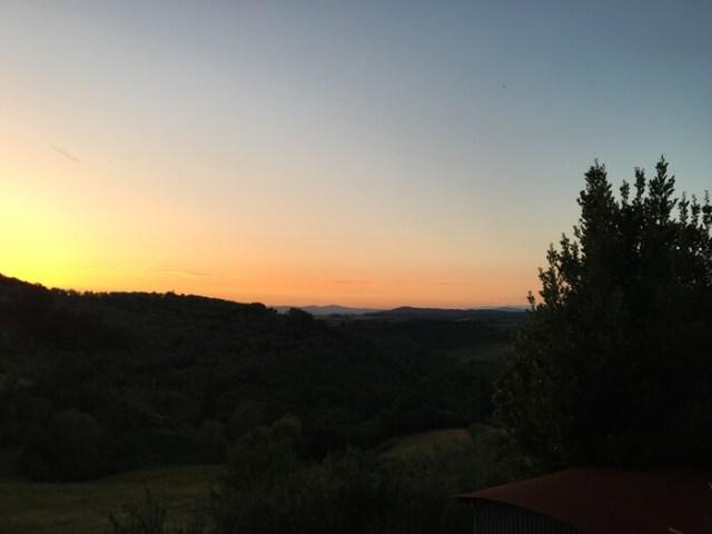 Con le colline e i rilievi della Val d?Orcia puoi goderti fantastici tramonti