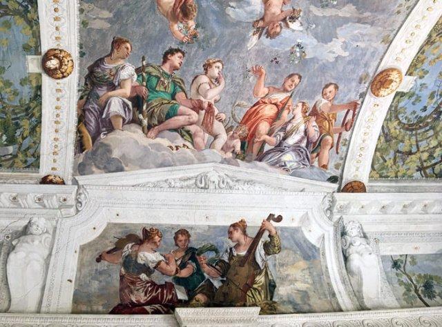Villa Barbaro a Maser è una villa palladiana con affreschi di Paolo Veronese