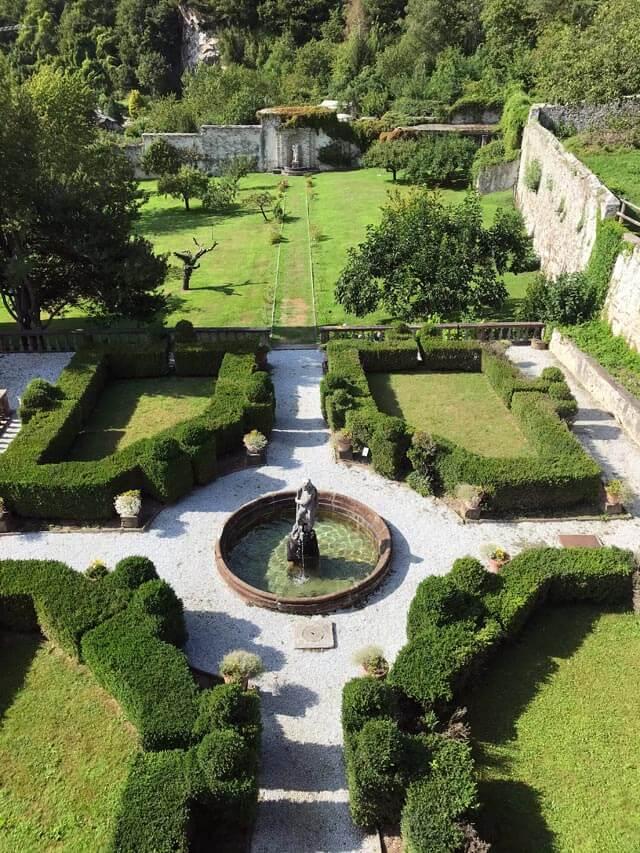 Palazzo Vertemate Franchi a Piuro ha uno splendido giardino all