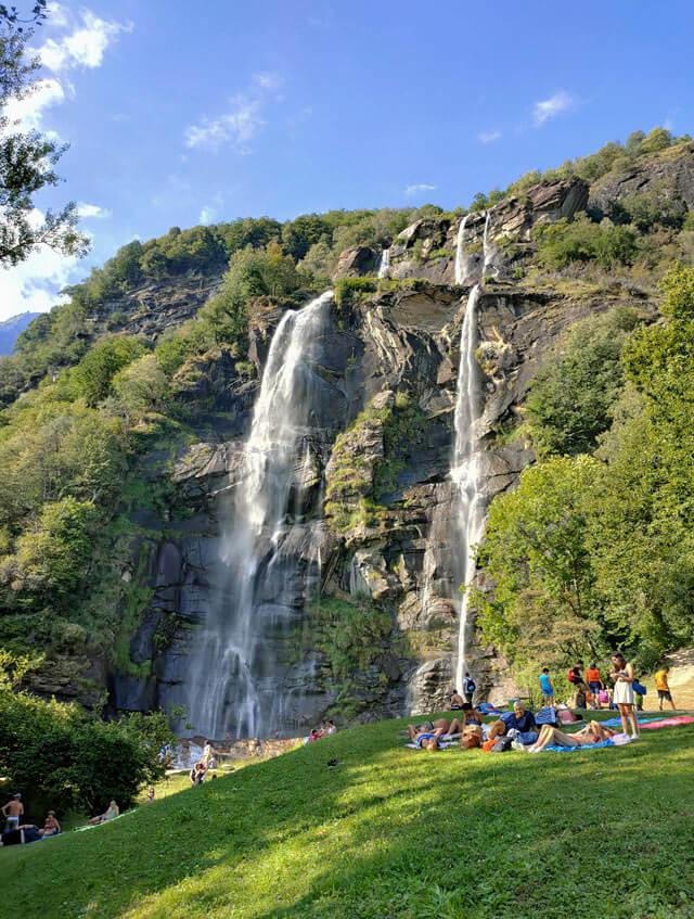 Le cascate dell'Acquafraggia sono da vedere in Valchiavenn