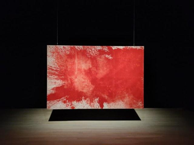 """Un quadro di Hermann Nitsch è alla mostra """"Caravaggio il contemporaneo"""""""